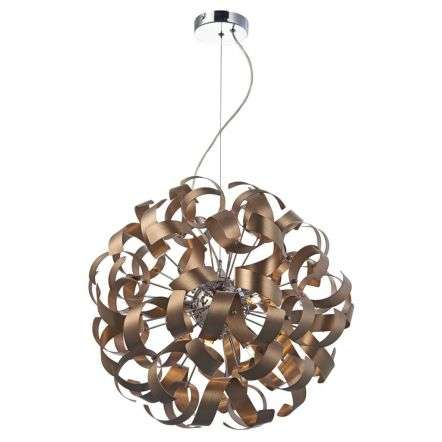 Rawley 9-Light Brushed Satin Copper Pendant