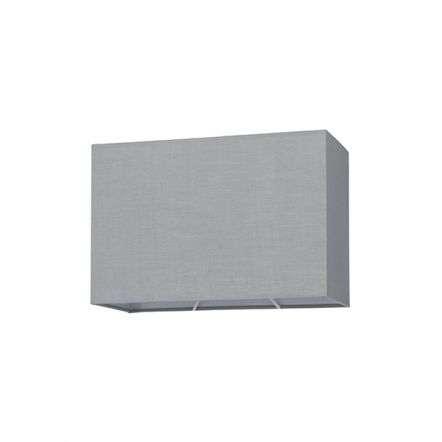 Rectangular Shade in Grey Cotton Fabric