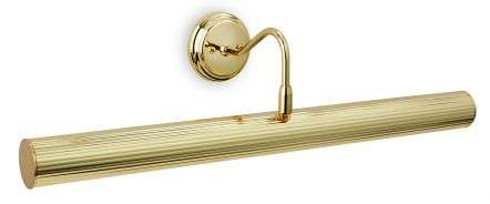 Reeded 4 Light Picture Light Polished Brass Finish
