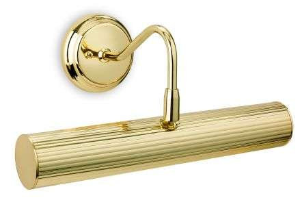 Reeded Picture Lights Polished Brass Finish