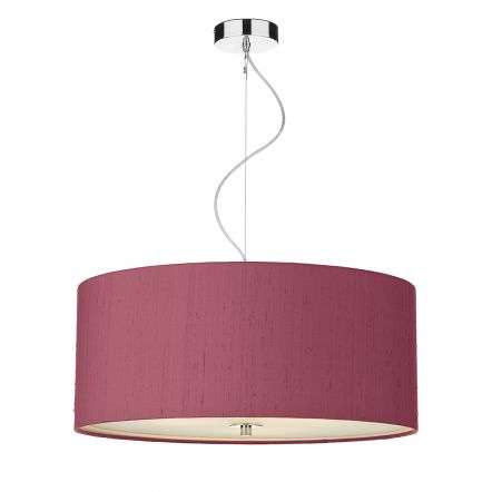 Renior 60CM 6 Light Pendant Complete with Bespoke 100% Silk Shade