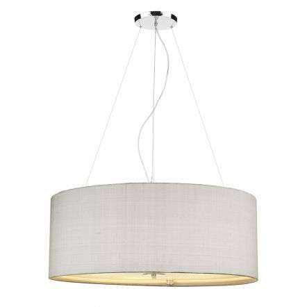 Renior 90CM 6 Light Pendant Complete with Bespoke 100% Silk Shade