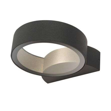 Reon 1 Light Wall Light Circle Fixed Anthracite IP65 LED