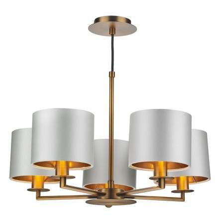 Rex 5 Light Pendant in Bronze (Shade Colour Options)