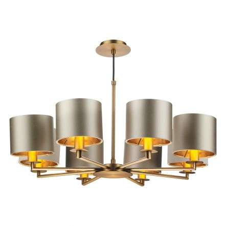 Rex 8 Light Pendant in Bronze (Shade Colour Options)