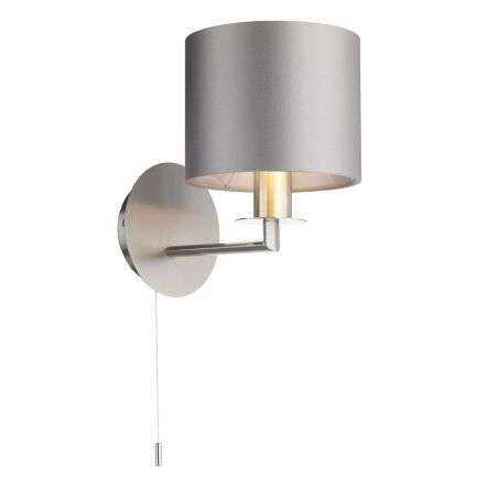 Rex Single Wall Light Satin Nickel (Shade Colour Options)