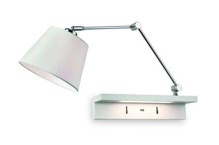 Rex Wall Light in Polished Chrome with USB Port