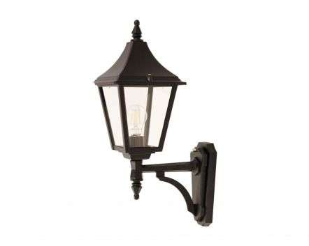 Ries Medium 4-Sided Upturned Wall Lantern Black