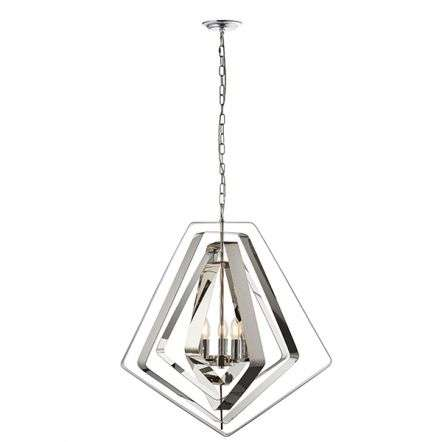 Riona 3 Light Modern Chrome Pendant