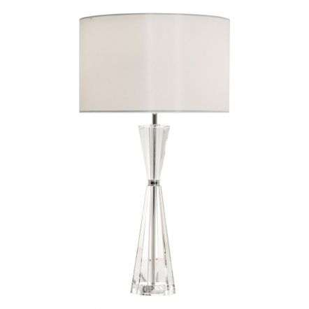 Risha 2lt Table Lamp Crystal & Polished Nickel C/W Shade