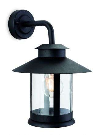 Roma 1 Light Outdoor Wall Light Black