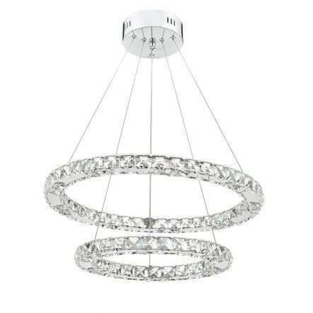 Roma LED Pendant Crystal With Chrome Dimmable