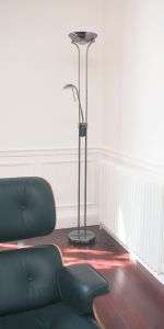 Rome Polished Chrome Dimmable Mother And Child Floor Lamp