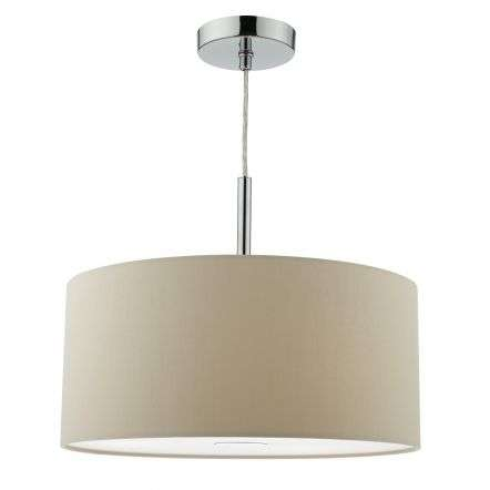 Ronda 40cm Easy Fit Pendant Taupe Drum Shade