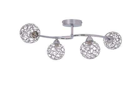 Ronda 4 Light Polished Chrome with Mesh Ball Shade