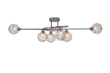 Ronda 6 Light Polished Chrome with Mesh Ball Shade