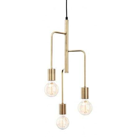 Roxy 3 Light Pendant in Antique Brass Finish