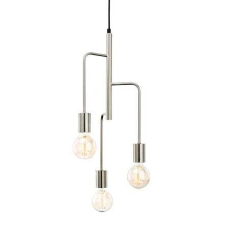 Roxy 3 Light Pendant in Brushed Steel Finish