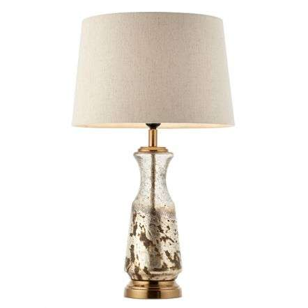Samuel White and Hammered Volcano Table Lamp