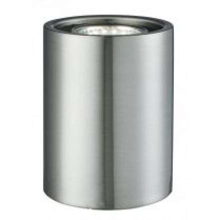 Satin Silver Cylinder Uplighter Table Lamp
