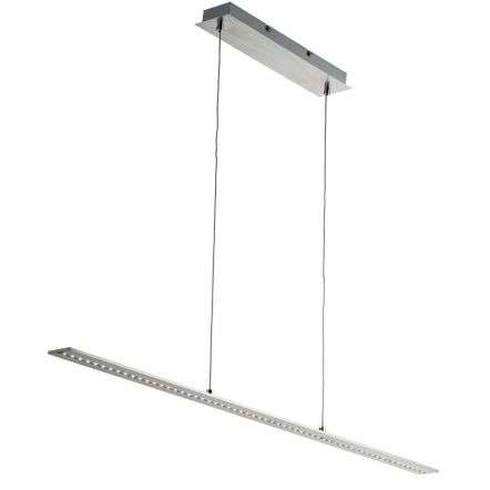 Satin Silver LED Straight Bar Light with Clear Glass