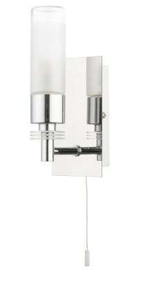 Saturn 1 Light Bathroom Wall Light Polished Chrome IP44