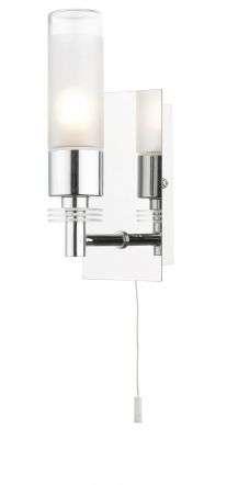 Saturn 1 Light Bathroom Wall Light Polished Chrome IP44