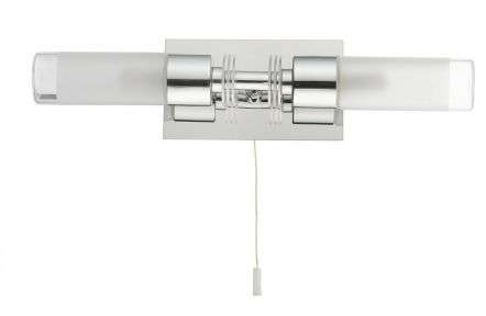 Saturn 2 Light Bathroom Wall Light Polished Chrome IP44