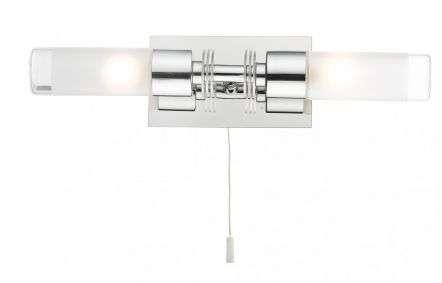 Saturn 2 Light Bathroom Wall Light Polished Chrome IP44