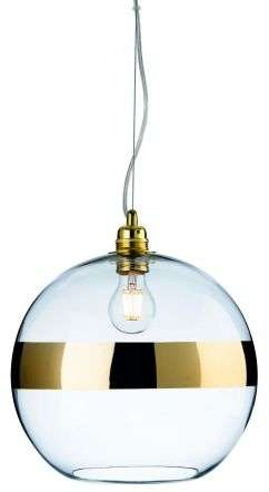 Saturn Single Light Pendant in Gold Finish