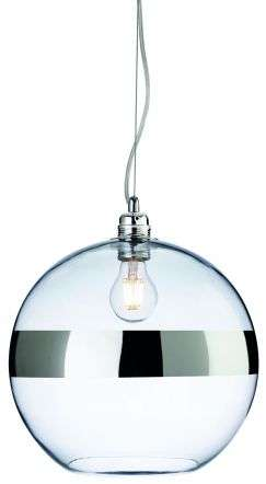 Saturn Single Light Pendant in Polished Chrome