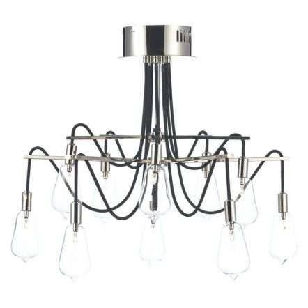 Scroll 10 Light Semi Flush Polished Nickel