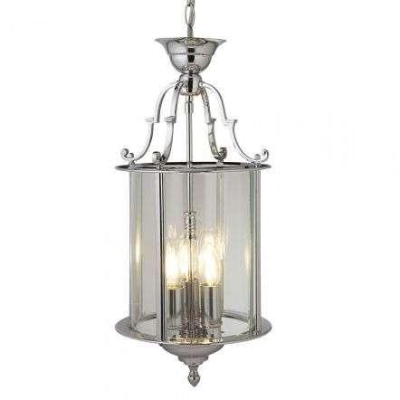 Searchlight 3003-10CC Lantern 250mm Chrome 3 Light Bevelled Glass