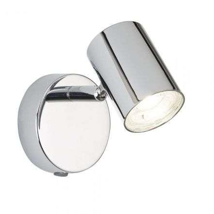 Searchlight 3171CC Rollo 4W LED 1 Light Cylinder Head Chrome Spot Wall Light