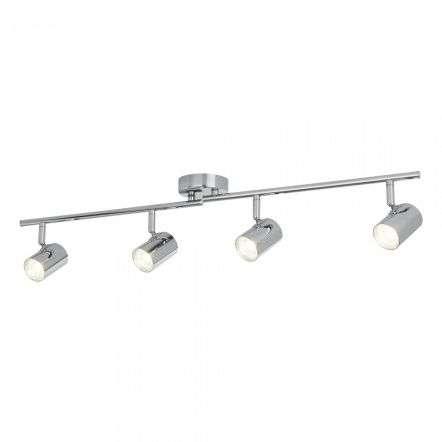 Searchlight 3174CC Rollo 16W LED 4 Light Cylinder Head Chrome Spotlight Split Bar