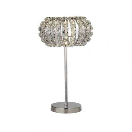 Searchlight 5817CC Marilyn 1 Light Chrome Table Lamp With Crystal