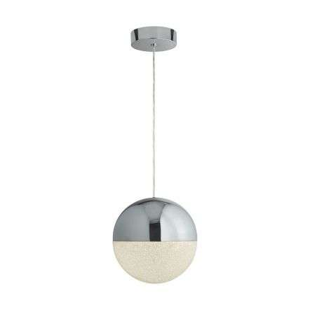Searchlight 5841CC Marbles 12W LED Single Globe Pendant Chrome
