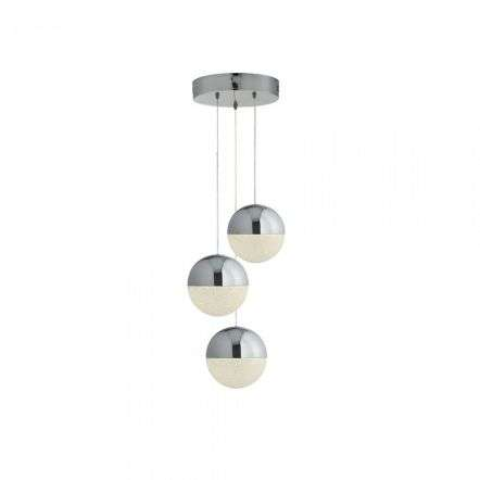 Searchlight 5842-3CC Marbles 3 Light 66W LED Globe Milti Drop Pendant Chrome