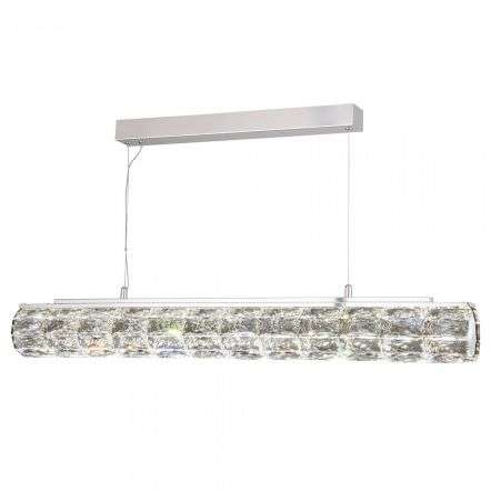 Searchlight 5861CC Remy 32W LED Pendant Crystal Hexagonal Tube Bar
