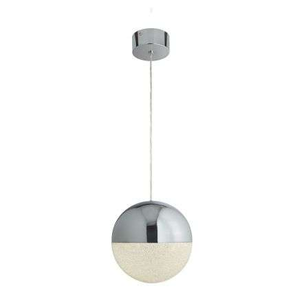 Searchlight 5881CC Marbles 18W LED Single Globe Pendant Chrome