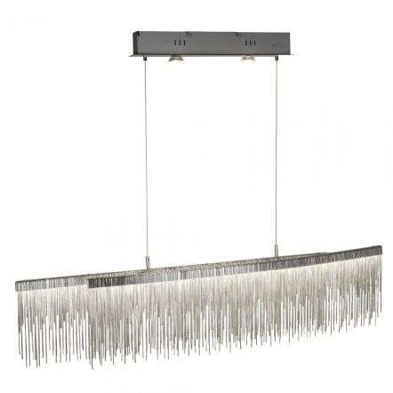 Searchlight 6061SS Memphis 35W LED Ceiling Bar Satin Silver Chain Link Waterfall Dressing