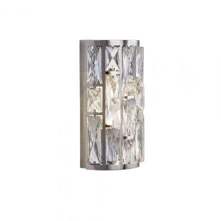 Searchlight 6582-2CC Bijou 2 Light Chrome Wall Light With Crystal Glass