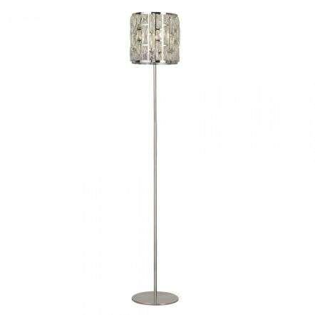 Searchlight 6589CC Bijou 1 Light Chrome Floor Lamp With Crystal Glass