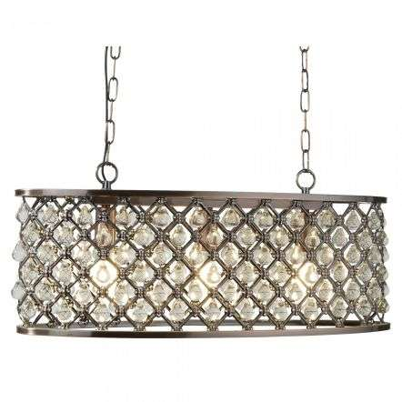 Searchlight 6953-3CU Marquise 3 Light Oval Bar Antique Copper