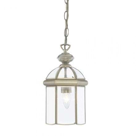 Searchlight 7131AB Single Lantern Antique Brass With Domed Glass
