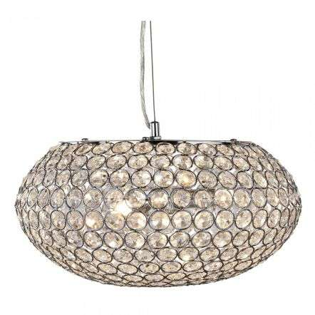 Searchlight 7163-3CC Chantilly Pendant 3 Light Ceiling Pendant With Crystal