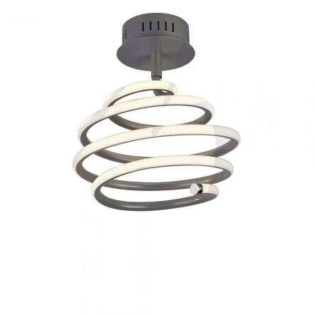 Searchlight 7457GY Swirl 28W LED Grey Semi Flush Fitting