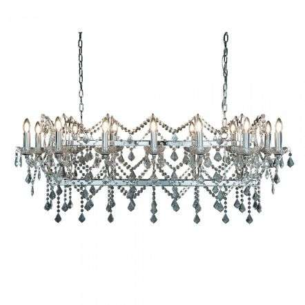 Searchlight 80614-14CC Florence 14 Light Pendant Bar Clear Crystal Chrome