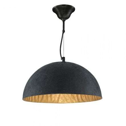 Searchlight 8149GO Metal Dome Pendant Light with Gold Inner