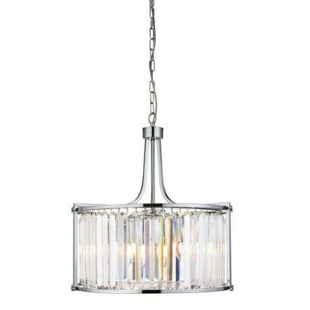 Searchlight 8295-5CC Victoria 5 Light Drum Chrome Pendant